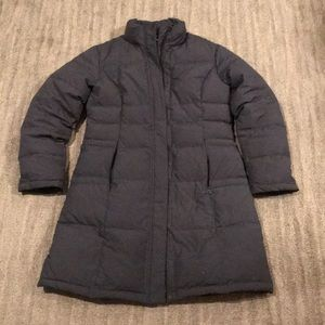 Garnet hill puffer coat long size 8 charcoal